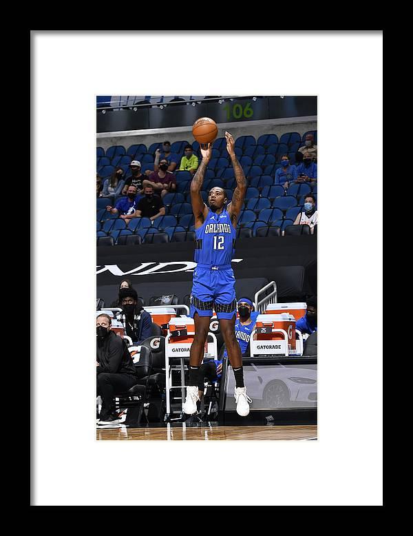 Nba Pro Basketball Framed Print featuring the photograph Dallas Mavericks v Orlando Magic by Fernando Medina