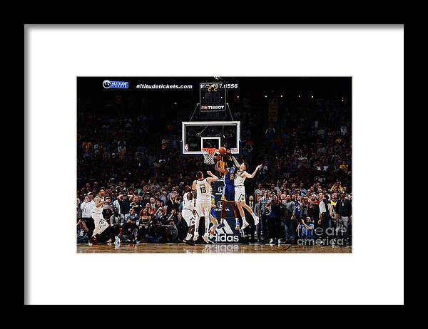 Nba Pro Basketball Framed Print featuring the photograph Damian Jones by Bart Young