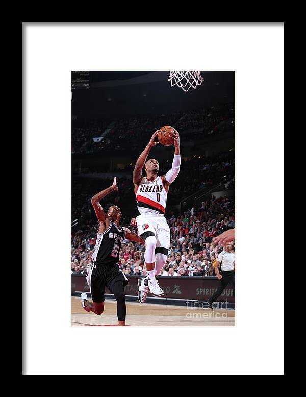 Nba Pro Basketball Framed Print featuring the photograph Damian Lillard and Dejounte Murray by Sam Forencich