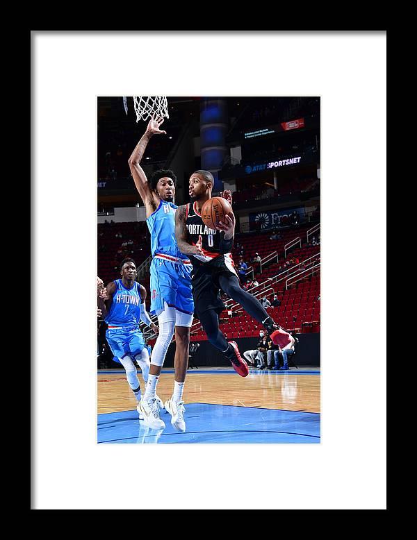 Nba Pro Basketball Framed Print featuring the photograph Damian Lillard by Cato Cataldo