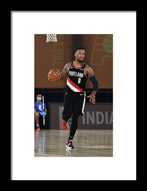 Nba Pro Basketball Framed Print featuring the photograph Damian Lillard by David Dow