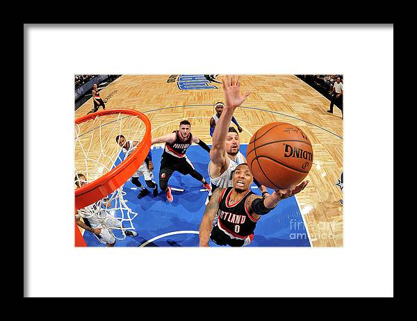 Nba Pro Basketball Framed Print featuring the photograph Damian Lillard by Fernando Medina