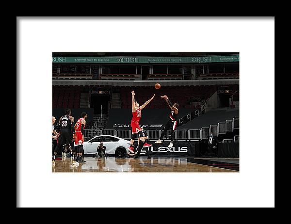 Nba Pro Basketball Framed Print featuring the photograph Damian Lillard by Jeff Haynes