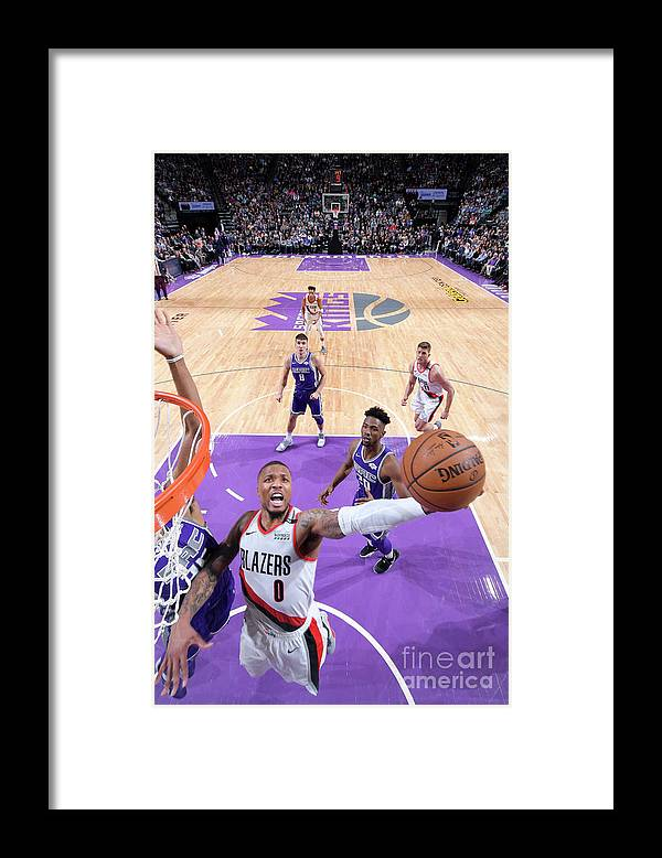 Nba Pro Basketball Framed Print featuring the photograph Damian Lillard by Rocky Widner