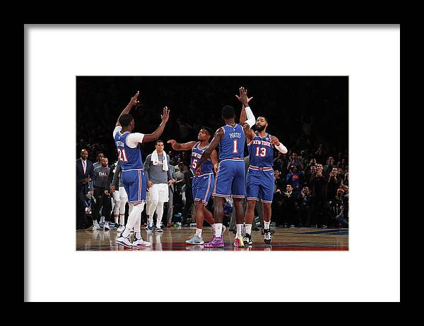 Nba Pro Basketball Framed Print featuring the photograph Damyean Dotson and Bobby Portis by Nathaniel S. Butler