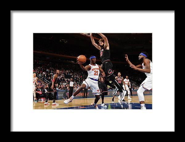Nba Pro Basketball Framed Print featuring the photograph Damyean Dotson by Jesse D. Garrabrant