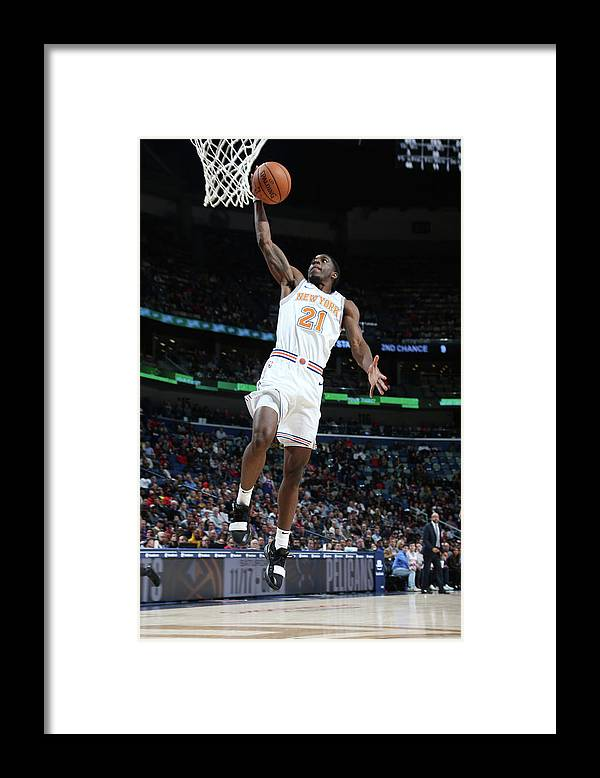 Smoothie King Center Framed Print featuring the photograph Damyean Dotson by Layne Murdoch Jr.