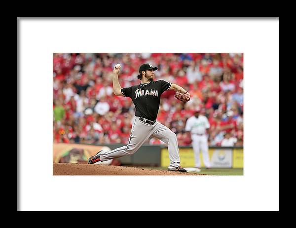 Great American Ball Park Framed Print featuring the photograph Dan Haren by Andy Lyons