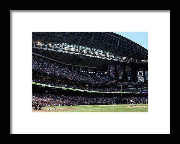 Tony Gwynn Jr. Framed Print featuring the photograph Dan Haren by Christian Petersen