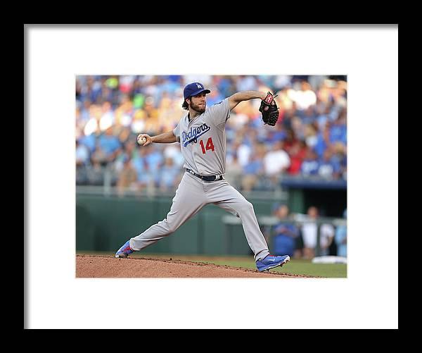 American League Baseball Framed Print featuring the photograph Dan Haren by Ed Zurga