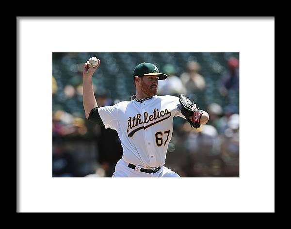 American League Baseball Framed Print featuring the photograph Dan Straily by Thearon W. Henderson