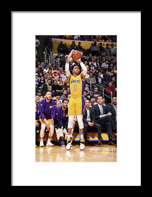 Nba Pro Basketball Framed Print featuring the photograph D'angelo Russell by Andrew D. Bernstein