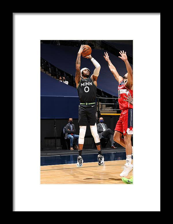 Nba Pro Basketball Framed Print featuring the photograph D'angelo Russell by David Sherman