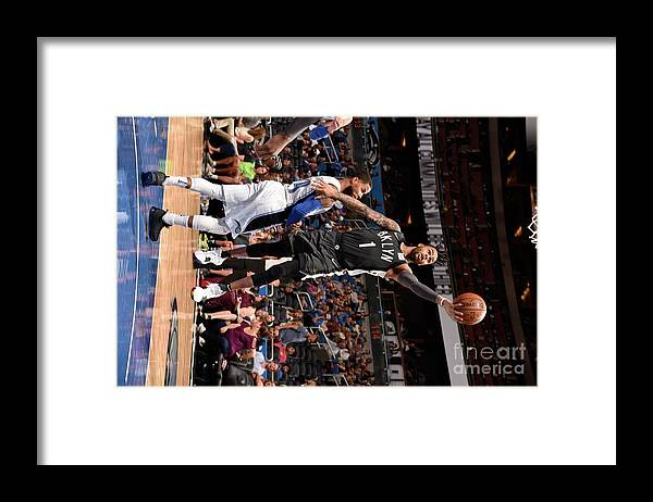 Nba Pro Basketball Framed Print featuring the photograph D'angelo Russell by Gary Bassing