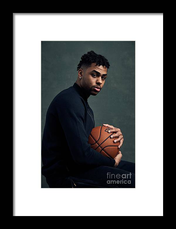 Event Framed Print featuring the photograph D'angelo Russell by Jennifer Pottheiser