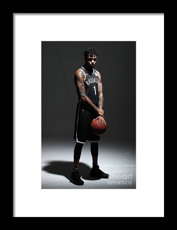 Media Day Framed Print featuring the photograph D'angelo Russell by Nathaniel S. Butler
