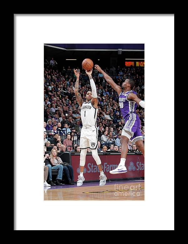 Nba Pro Basketball Framed Print featuring the photograph D'angelo Russell by Rocky Widner