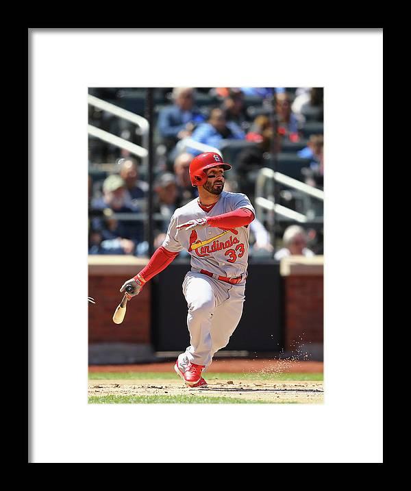 St. Louis Cardinals Framed Print featuring the photograph Daniel Fields by Al Bello