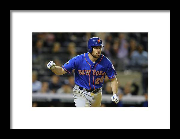 American League Baseball Framed Print featuring the photograph Daniel Murphy by Al Bello