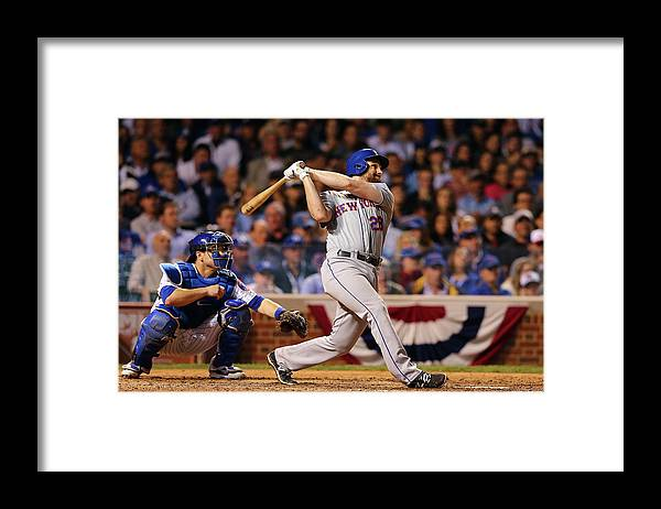 People Framed Print featuring the photograph Daniel Murphy and Fernando Rodney by Elsa