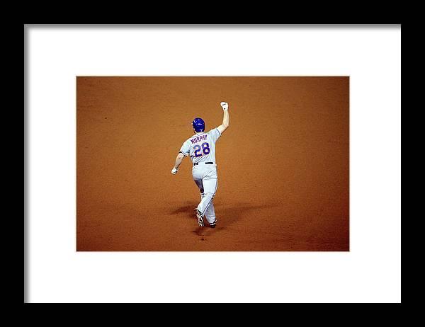 Daniel Murphy - Baseball Player Framed Print featuring the photograph Daniel Murphy and Fernando Rodney by Jon Durr