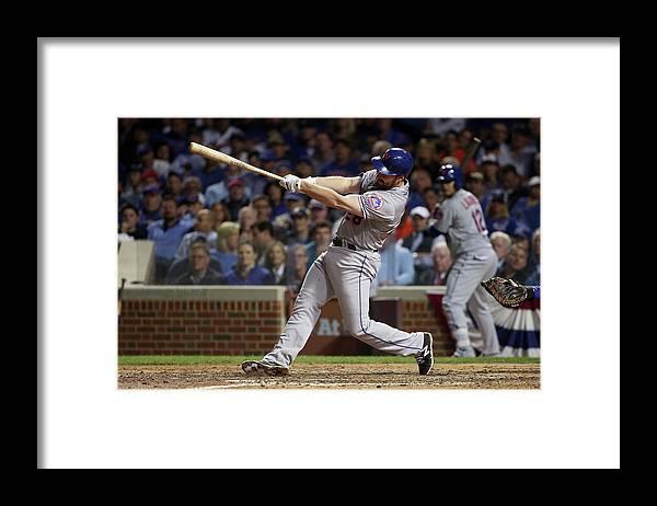 Daniel Murphy - Baseball Player Framed Print featuring the photograph Daniel Murphy and Fernando Rodney by Jonathan Daniel