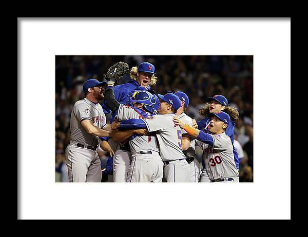 People Framed Print featuring the photograph Daniel Murphy and Noah Syndergaard by Jonathan Daniel