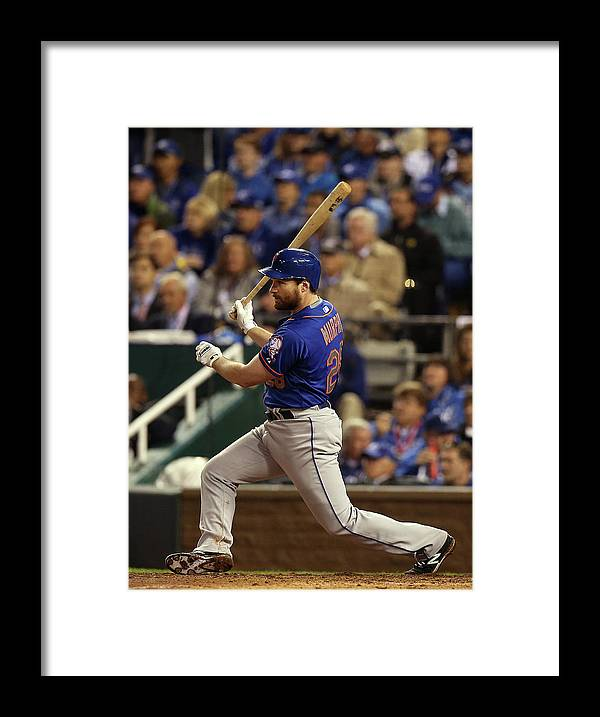 Playoffs Framed Print featuring the photograph Daniel Murphy by Brad Mangin