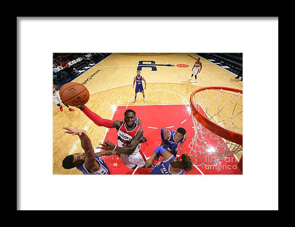 Nba Pro Basketball Framed Print featuring the photograph Daniel Ochefu by Ned Dishman