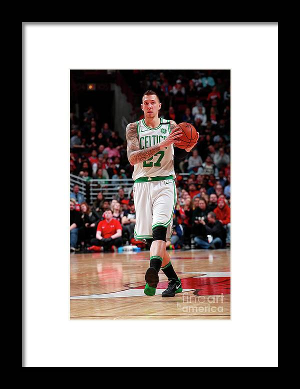 Nba Pro Basketball Framed Print featuring the photograph Daniel Theis by Jeff Haynes
