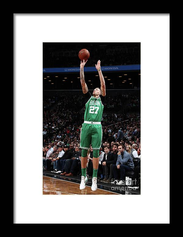Nba Pro Basketball Framed Print featuring the photograph Daniel Theis by Nathaniel S. Butler
