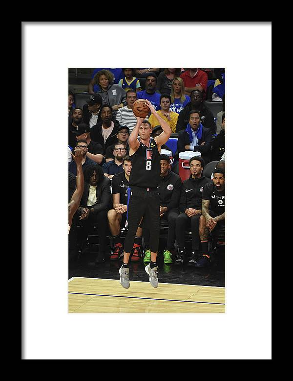 Danilo Gallinari Framed Print featuring the photograph Danilo Gallinari by Adam Pantozzi