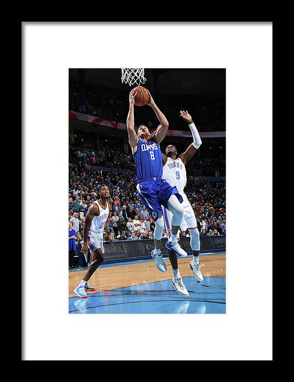 Danilo Gallinari Framed Print featuring the photograph Danilo Gallinari by Andrew D. Bernstein