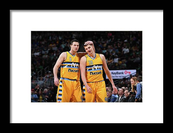 Danilo Gallinari Framed Print featuring the photograph Danilo Gallinari by Garrett Ellwood
