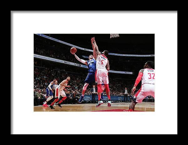 Danilo Gallinari Framed Print featuring the photograph Danilo Gallinari by Ned Dishman
