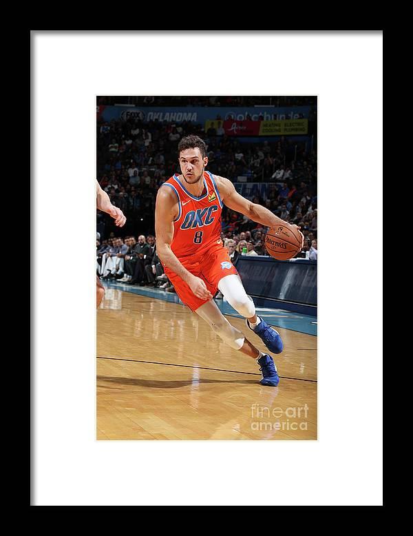 Danilo Gallinari Framed Print featuring the photograph Danilo Gallinari by Zach Beeker