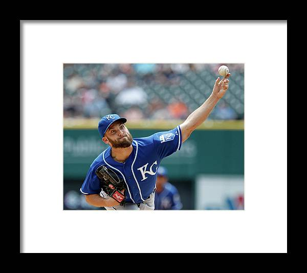 American League Baseball Framed Print featuring the photograph Danny Duffy by Duane Burleson