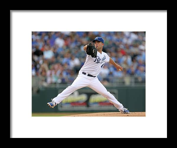 American League Baseball Framed Print featuring the photograph Danny Duffy by Ed Zurga