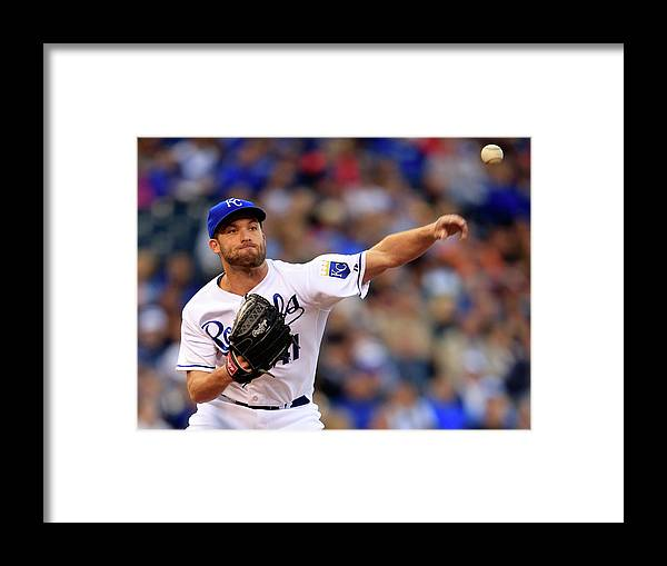 American League Baseball Framed Print featuring the photograph Danny Duffy by Jamie Squire