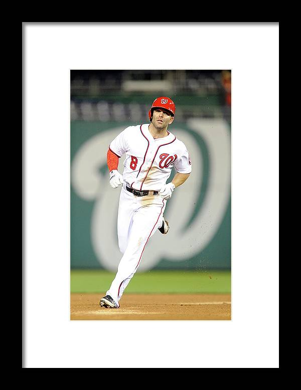American League Baseball Framed Print featuring the photograph Danny Espinosa by Greg Fiume