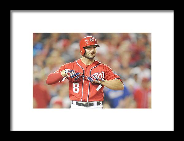 Looking Framed Print featuring the photograph Danny Espinosa by Mitchell Layton