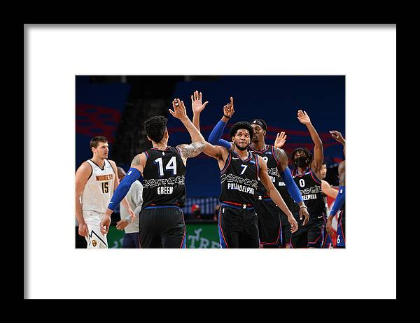 Nba Pro Basketball Framed Print featuring the photograph Danny Green by David Dow