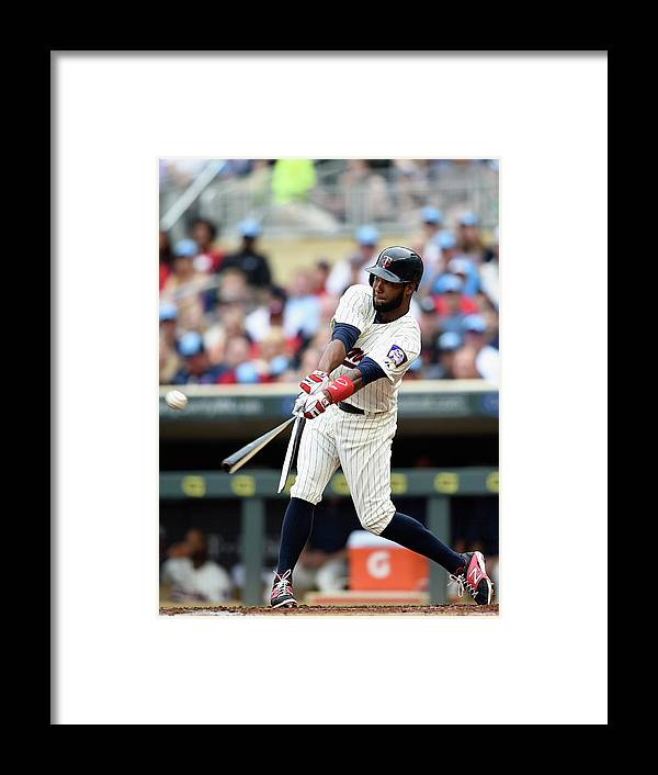 Second Inning Framed Print featuring the photograph Danny Santana by Hannah Foslien