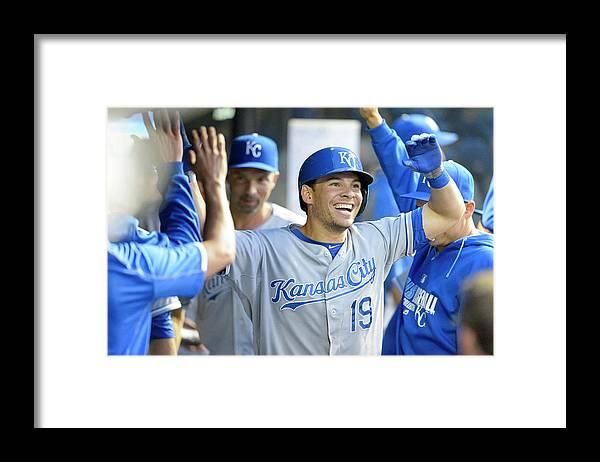 American League Baseball Framed Print featuring the photograph Danny Valencia by Jason Miller