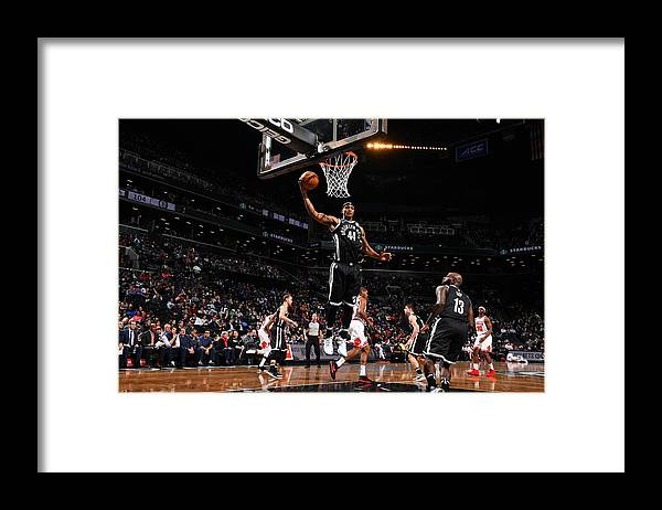 Nba Pro Basketball Framed Print featuring the photograph Dante Cunningham and Drazen Petrovic by Jesse D. Garrabrant