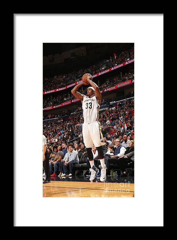 Smoothie King Center Framed Print featuring the photograph Dante Cunningham by Layne Murdoch