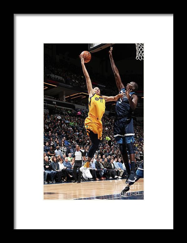 Nba Pro Basketball Framed Print featuring the photograph Dante Exum by Jordan Johnson