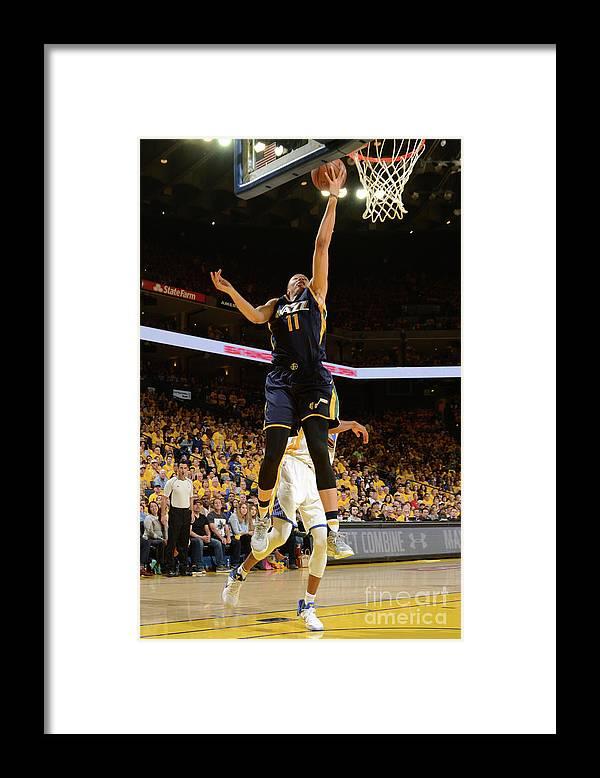 Playoffs Framed Print featuring the photograph Dante Exum by Noah Graham