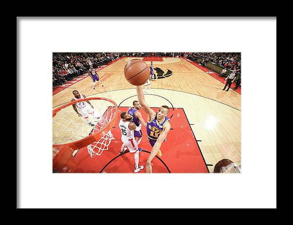 Nba Pro Basketball Framed Print featuring the photograph Dante Exum by Ron Turenne