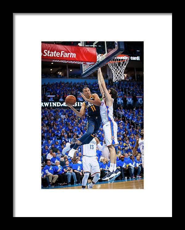 Playoffs Framed Print featuring the photograph Dante Exum by Zach Beeker